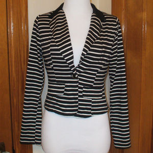 Black/Cream Striped Blazer